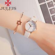 Đồng hồ nữ Julius JA963 dây da trắng