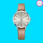 Đồng hồ nữ JULIUS JA1034 dây da vàng nhũ