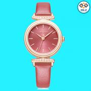 Đồng hồ nữ JULIUS JA1031 dây da đỏ