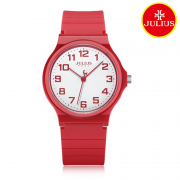 Đồng hồ nữ Julius Ja-1055C dây silicon đỏ