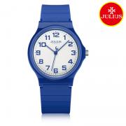 Đồng hồ nữ Julius Ja-1055D dây silicon xanh dương