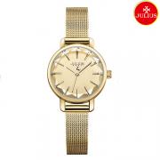 Đồng hồ nữ Julius Ja1063 dây thép vàng