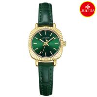 Đồng hồ nữ Julius Ja1056 dây da xanh lá
