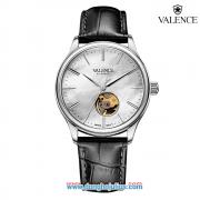 Đồng Hồ Nam Valence VC075 dây da (đen kim bạc)