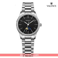 ĐỒNG HỒ nữ VALENCE  VC068 dây thép mặt đen