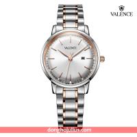 ĐỒNG HỒ nữ VALENCE VC062 dây thép mặt đen