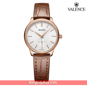 ĐỒNG HỒ nữ  VALENCE VC077 dây da nâu kính sapphire (New Arrival)
