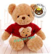 Gấu Teddy áo len 2 đầu 1m2