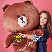 Gấu Line - Brown bigsize 1m5