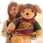 Gấu Teddy áo nón Hugsbaby (60cm, 80cm, 1m, 1m2)