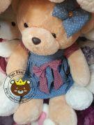 Gấu nâu đầm sao xanh (1m1)