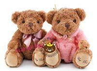Gấu bông đẹp Teddy Hugsbaby nơ / váy đầm (60cm - 80cm)