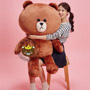 Gấu bông Brown LINE 1m2