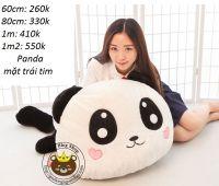 Gấu bông Panda mặt trái tim (60cm, 80cm, 1m, 1m2)