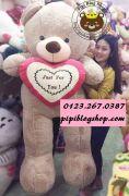 Gấu ôm tim Love to bự size đại 1m8