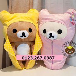 Gấu bông Rilakkuma áo khoác ngủ (50cm)