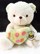 Gấu ôm tim I love you xanh lá (80cm, 1m, 1m2)