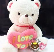 Gấu ôm tim I love you hồng (80cm, 1m, 1m2)