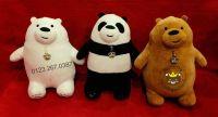 """Gấu bông 3 con gấu """" Đơn giản tôi là gấu"""" lông 3D (30cm, 40cm)"""