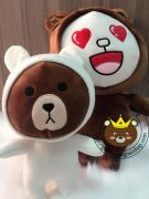 Gấu Line - brown, thỏ cony mặc đồ Cosplay (40cm , 60cm)