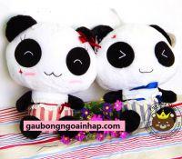 Gấu bông Panda Hugsbaby cao cấp lông siêu mịn (60cm)