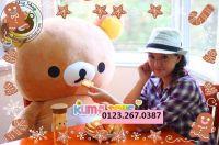 Gấu bông Rilakkuma Happy Hàn quốc (1m, 1m2, 1m5)
