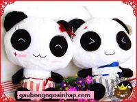 Gấu bông Panda Hugsbaby cao cấp lông siêu mịn (40cm, 60cm)