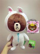 Gấu Line - Gấu brown HQ mặc đồ Phi hành gia (40cm)