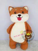 Chó bông Shiba đứng lông 3d dễ thương (60cm)