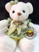 Gấu đầm váy xanh lông siêu mịn (60cm)