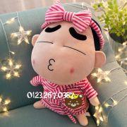 Gấu bông Shin mặc đồ tắm sọc hồng (40cm, 80cm , 1m, 1m2, 1m5)