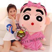 Gấu bông Shin mặc đồ tắm sọc hồng (1m5)