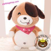 Chó bông Love Dog nâu Littlecucu chính hãng (40cm, 55cm, 70cm)