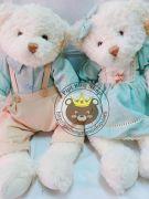 Gấu cặp Teddy Lovely Bear xanh da trời (50cm)