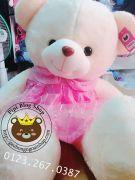 Gấu bông váy đầm tầng hồng (60cm, 80cm, 1m2, 1m4)