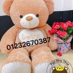 Gấu bông teddy bụng Love (1m4)