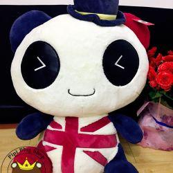 Gấu bông panda Hugsbaby cờ Anh mắt bằng da cao cấp (40cm, 50cm, 65m)