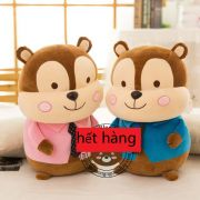 Gấu bông Sóc Chipmunk lông 3d (40cm)