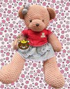 Gấu bông teddy pineapple váy đầm ABC (60cm, 80cm, 1m2, 1m5)