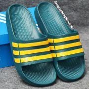 Dép Adidas Duramo chính hãng xanh rêu vàng