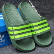Dép Adidas Duramo chính hãng xanh bộ đội sọc chuối