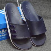 Dép Adidas Aqualette chính hãng màu xanh dương trắng sọc đen