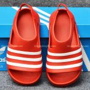 Sandal Adidas Adilette chính hãng màu đỏ sọc trắng