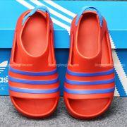 Sandal Adidas Adilette chính hãng màu đỏ sọc xanh dương
