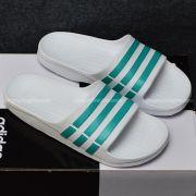 Adidas Duramo màu trắng sọc xanh ngọc