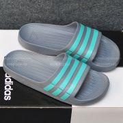 Adidas Duramo màu xám sọc xanh ngọc