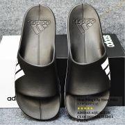 Dép Adidas Aqualette Cloudfoam màu đen đế trắng