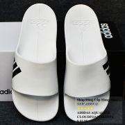 Dép Adidas Aqulette Cloudfoam màu trắng đế đen