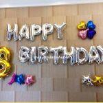Trang trí sinh nhật độc đáo bằng bóng bay tráng nhôm
