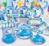 Bộ 16 món trang trí sinh nhật 1 tuổi Bóng chày